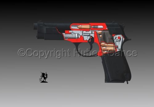 Beretta M9-92F (Cutaway #3) (large view)