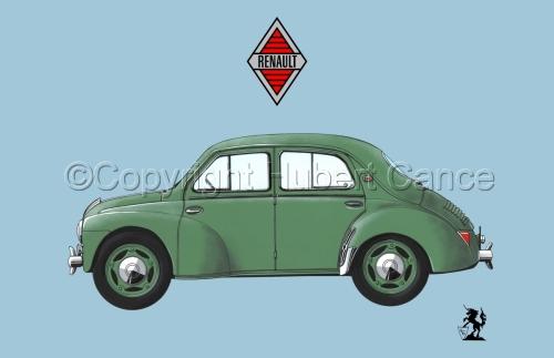 Renault 4 CV (Logo #2.2)  (large view)