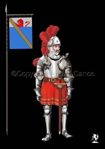 Pierre III Terrail, Knight of Bayard (1524) (Banner #2) (large view)