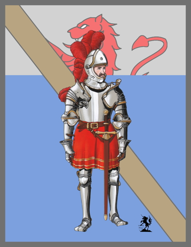 Pierre III Terrail, Knight of Bayard (1524) (Banner) (large view)