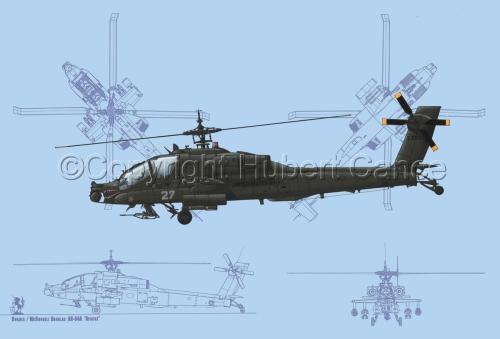 """Hughes AH-64A """"Apache"""" (Blueprint #1) (large view)"""