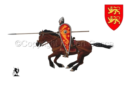 Normand Knight, Charging, Hastings (1066) (Shield #1) (large view)