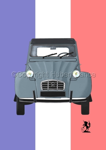 Citroen 2 CV (Flag #1) by Hubert Cance