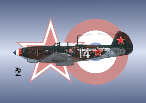 Yakovlev Yak-9D (Roundel #3) (large view)