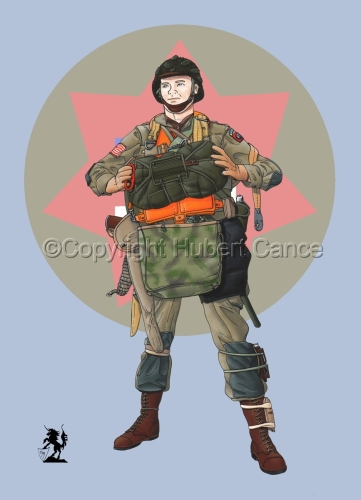 US Paratrooper (D-Day, Normandy, 1944) (Insignia #3) (large view)