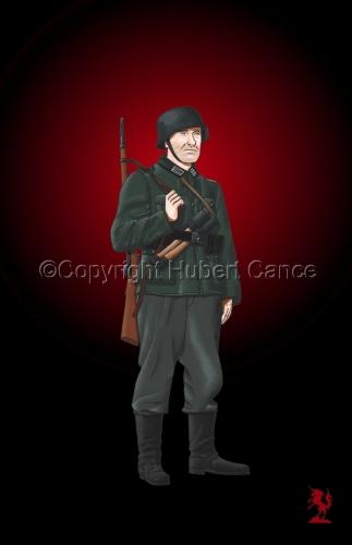German Infantryman, WW2 #3 (large view)