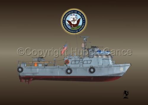 "PCF Mk.I ""Swift Boat"" (Vietnam) (Insignia #1.1.4) (large view)"