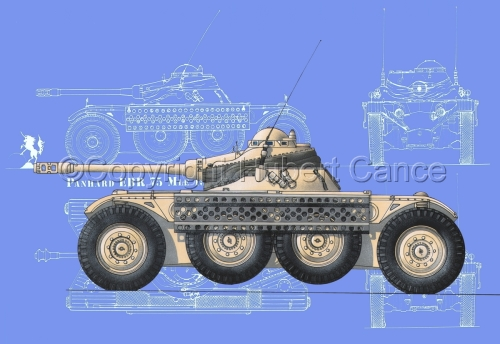 Panhard EBR modèle 1954 (Blueprint #2) (large view)