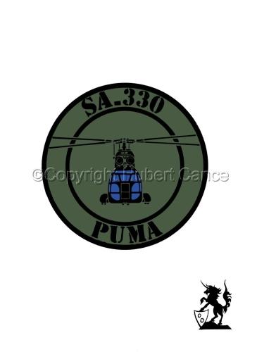 "Sticker: SA-330 ""Puma"" patch. (large view)"