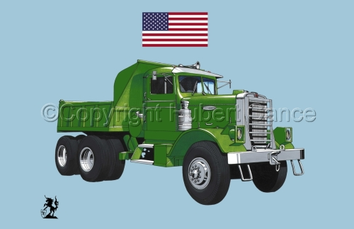 Kenworth Dump Truck (Flag #1.2) (large view)