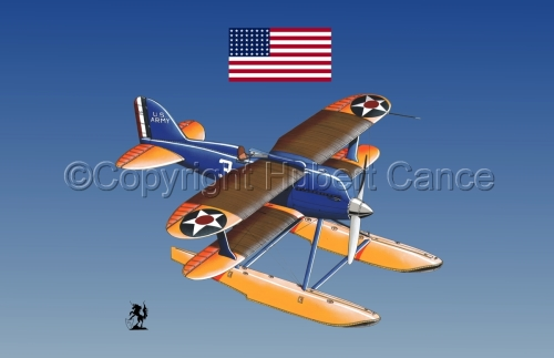 Curtiss R3C2 Army Racer (Flag #1.3) (large view)