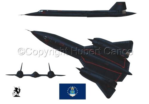 "Lockheed SR-71A ""Blackbird"" (Flag #2.1) (large view)"