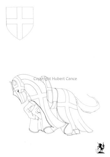Armorial de la Toison d'Or: Archevèque de Trèves (Sketch) (large view)