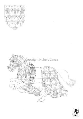 Armorial de la Toison d'Or: Comte d'Artois (Sketch) (large view)