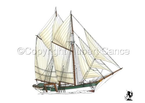 """Boston whaler schooner"" (large view)"