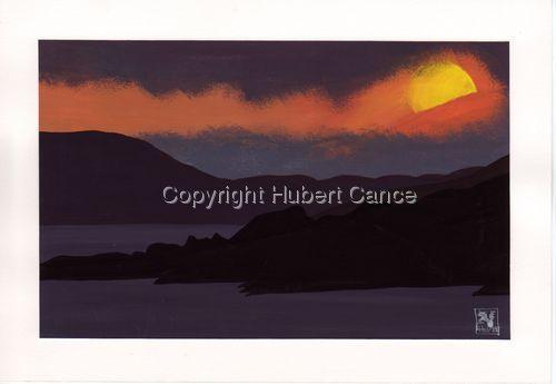 """""""Sundown on mountain lake"""" (large view)"""
