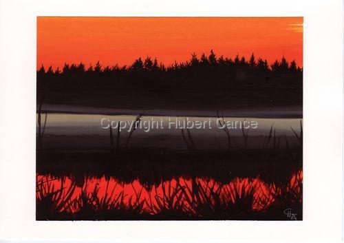 """""""Sundown on lake"""" (large view)"""
