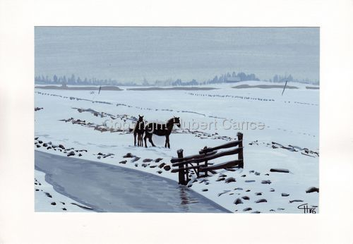 """""""Snowy Meadows"""" (large view)"""
