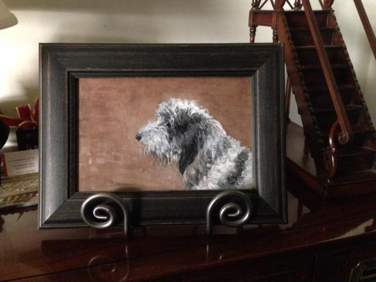 "PBGV, ""French Basset Hound""  framed  (large view)"