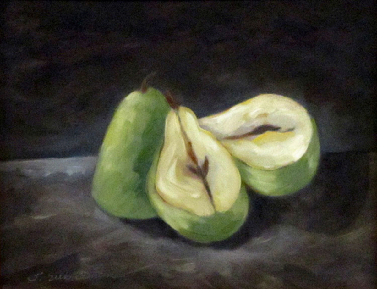Three Pears, stilllife, unframed  (large view)