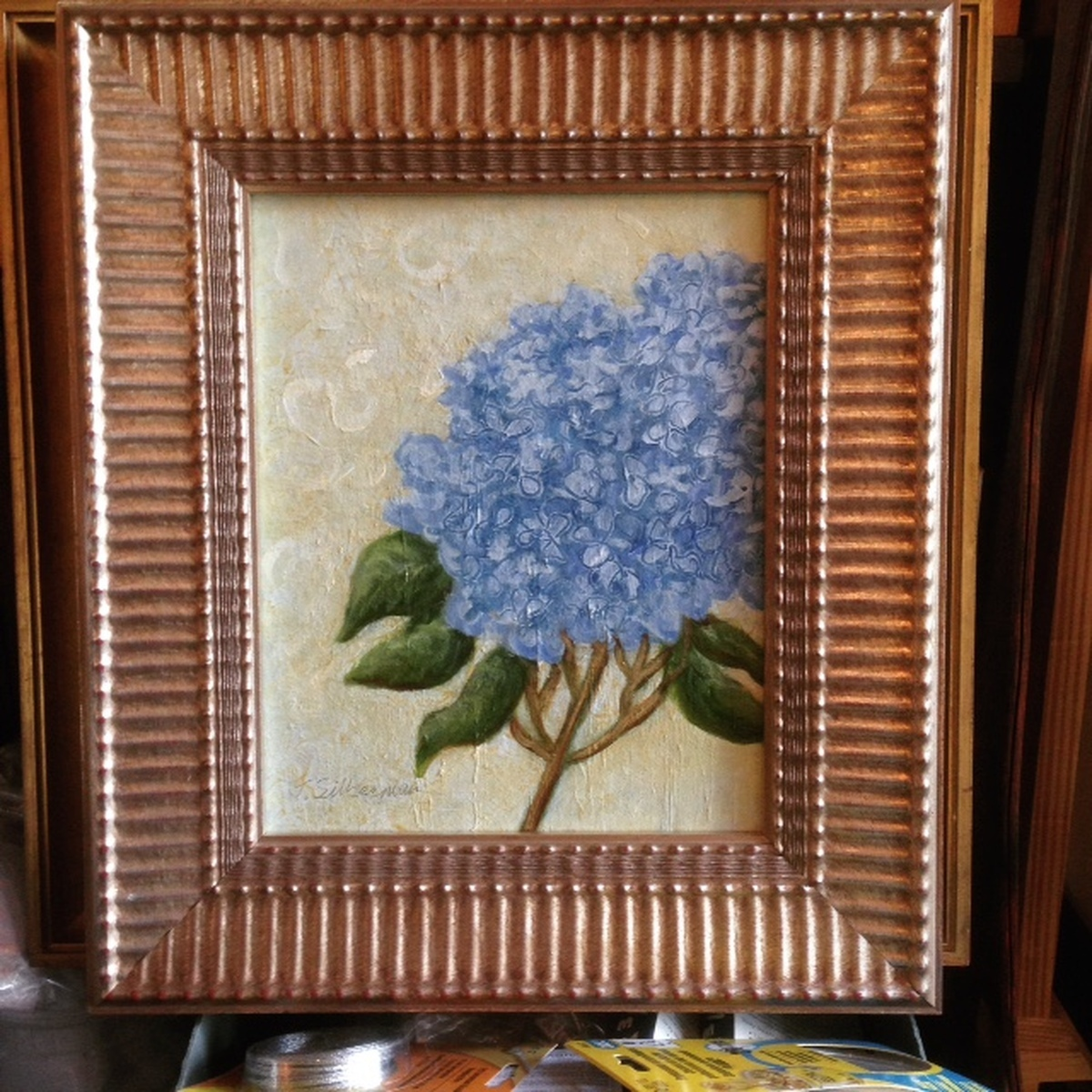 Hydrangea traditional, framed  (large view)