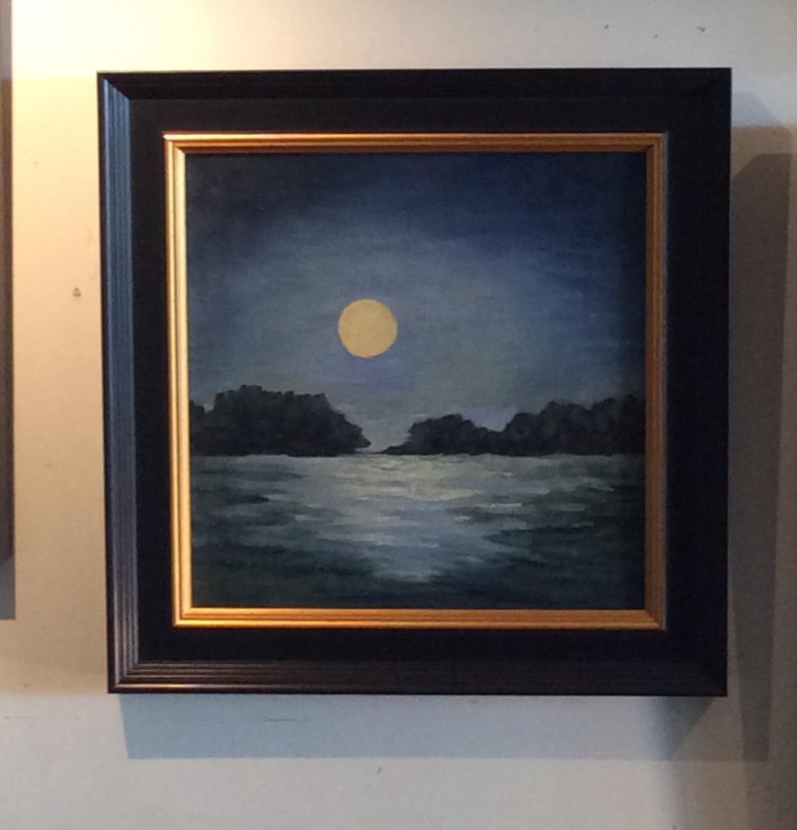 Moonlit Shore  rephotograph 12 x12 (large view)