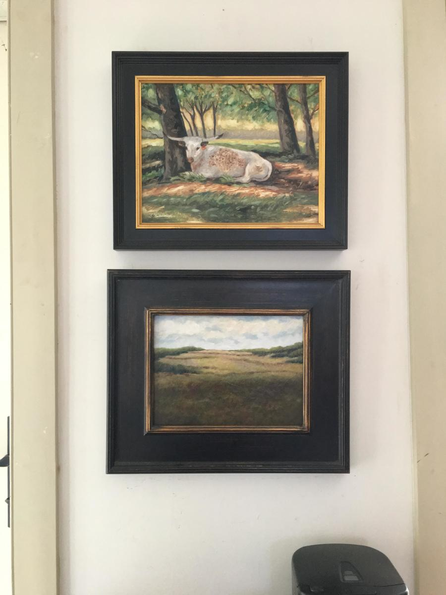 Cheslen and Longhorn paintings together (large view)