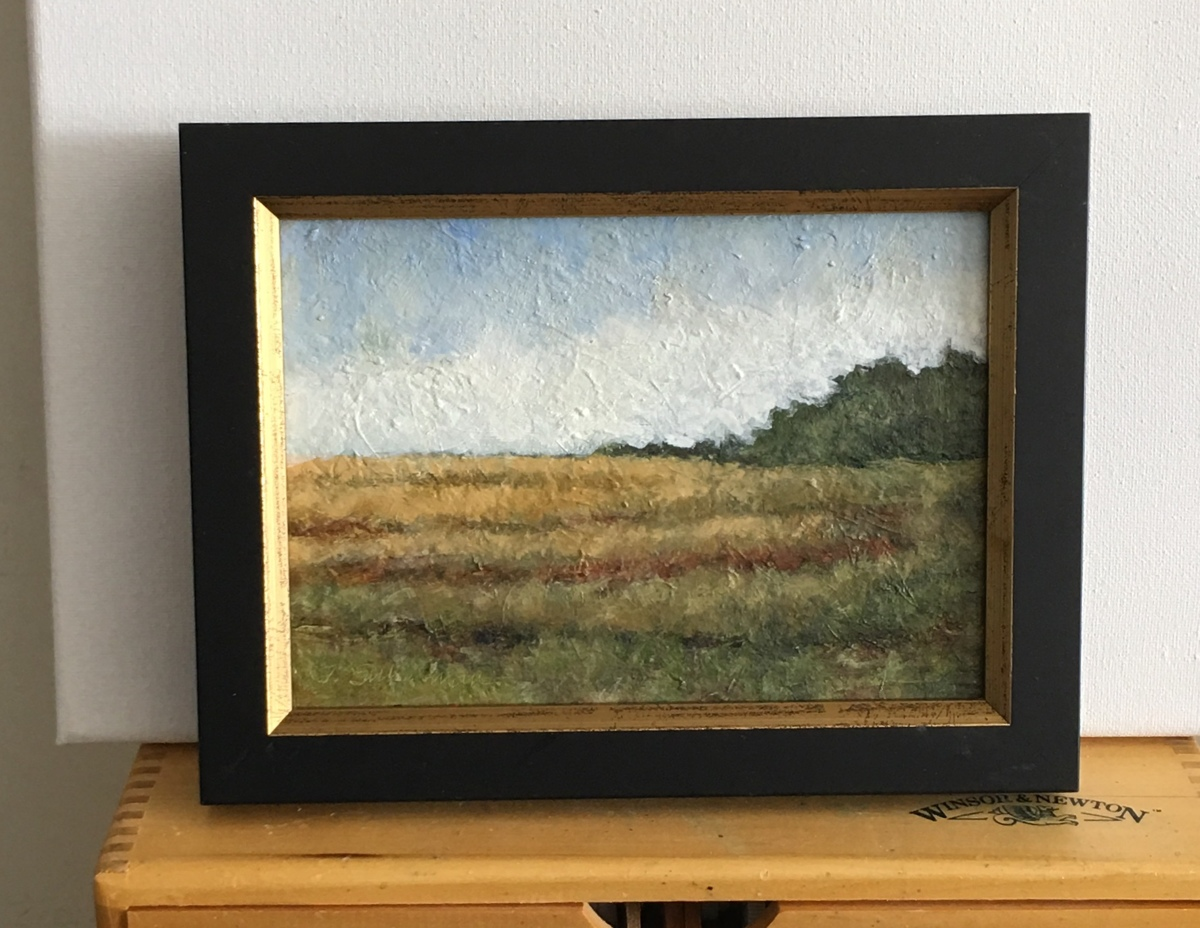 Small rolling fields, landscape, framed (large view)