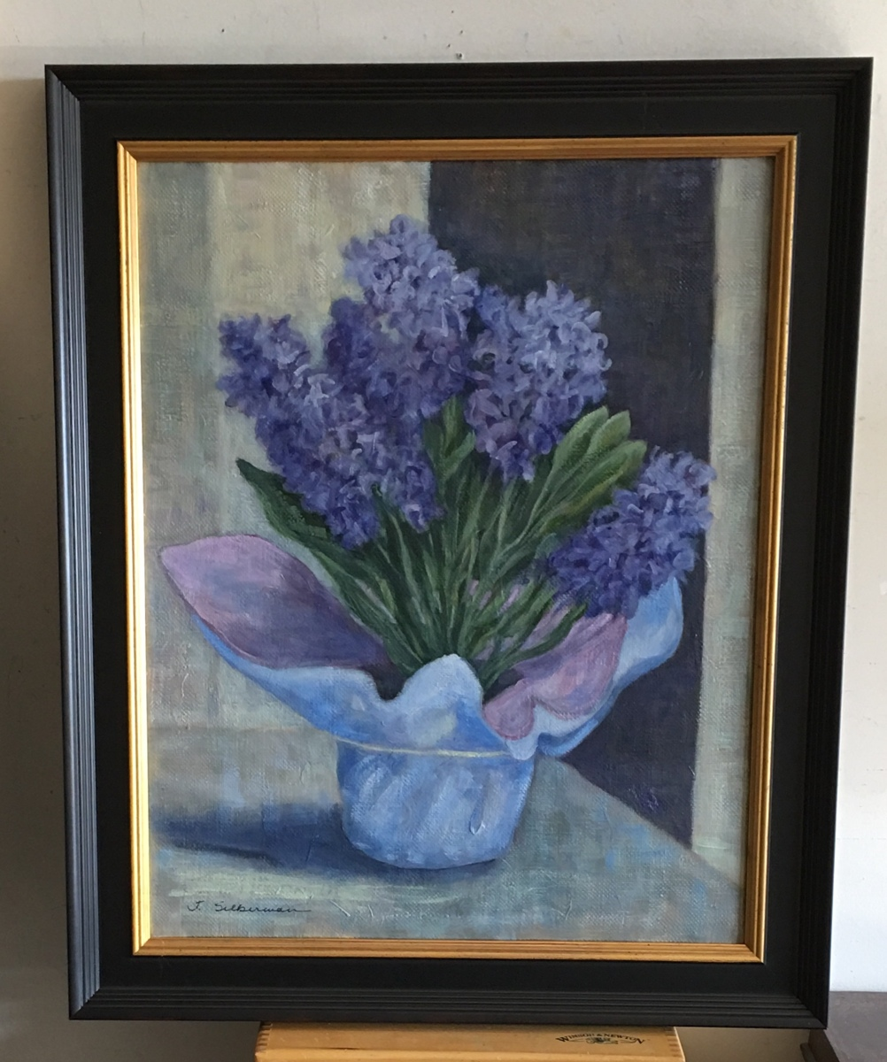 Hyacinth, framed, out showing   (large view)