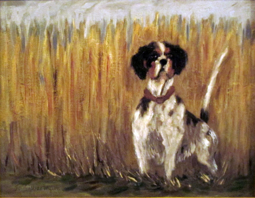 Hunting Dog in landscape  SOLD (large view)