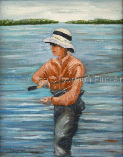 Flyfishing, commission Sold (large view)