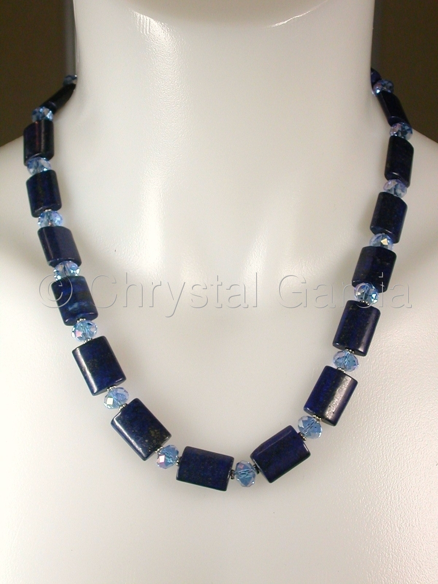 Crystal Lapis Necklace (large view)