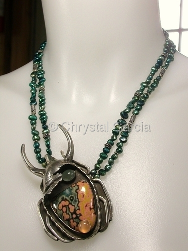 Horned Scarab Necklace