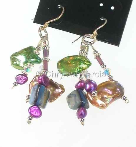 Glossy Keshi Pearl Earrings