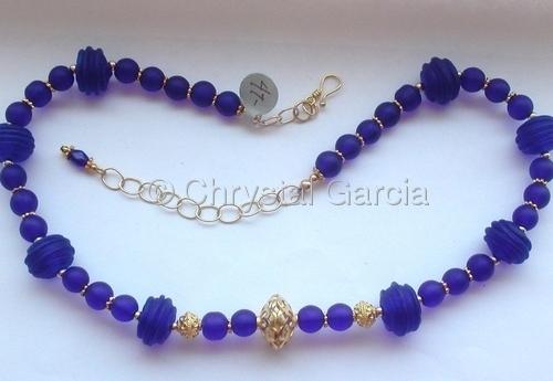 Cobalt Blue & Vermeil Necklace (large view)