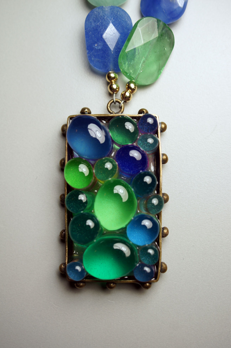 Resin Caviar Necklace (large view)