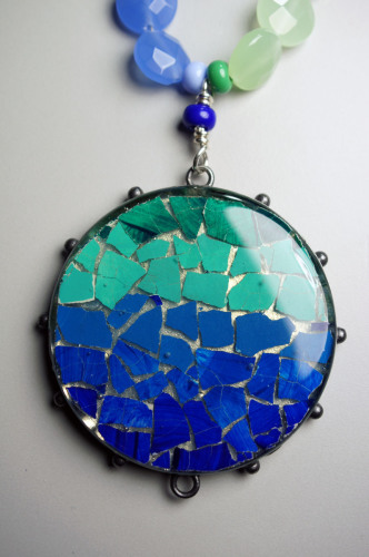 Eggshell Mosaic Necklace