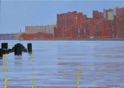 Twilight, East River and Roosevelt Island