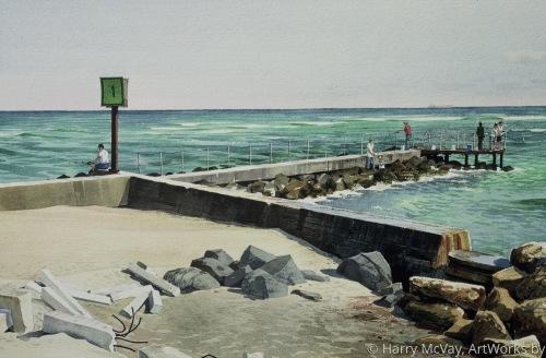 Marine Marker#1 @ Jupiter Inlet by Harry McVay, ArtWorks byDetailed