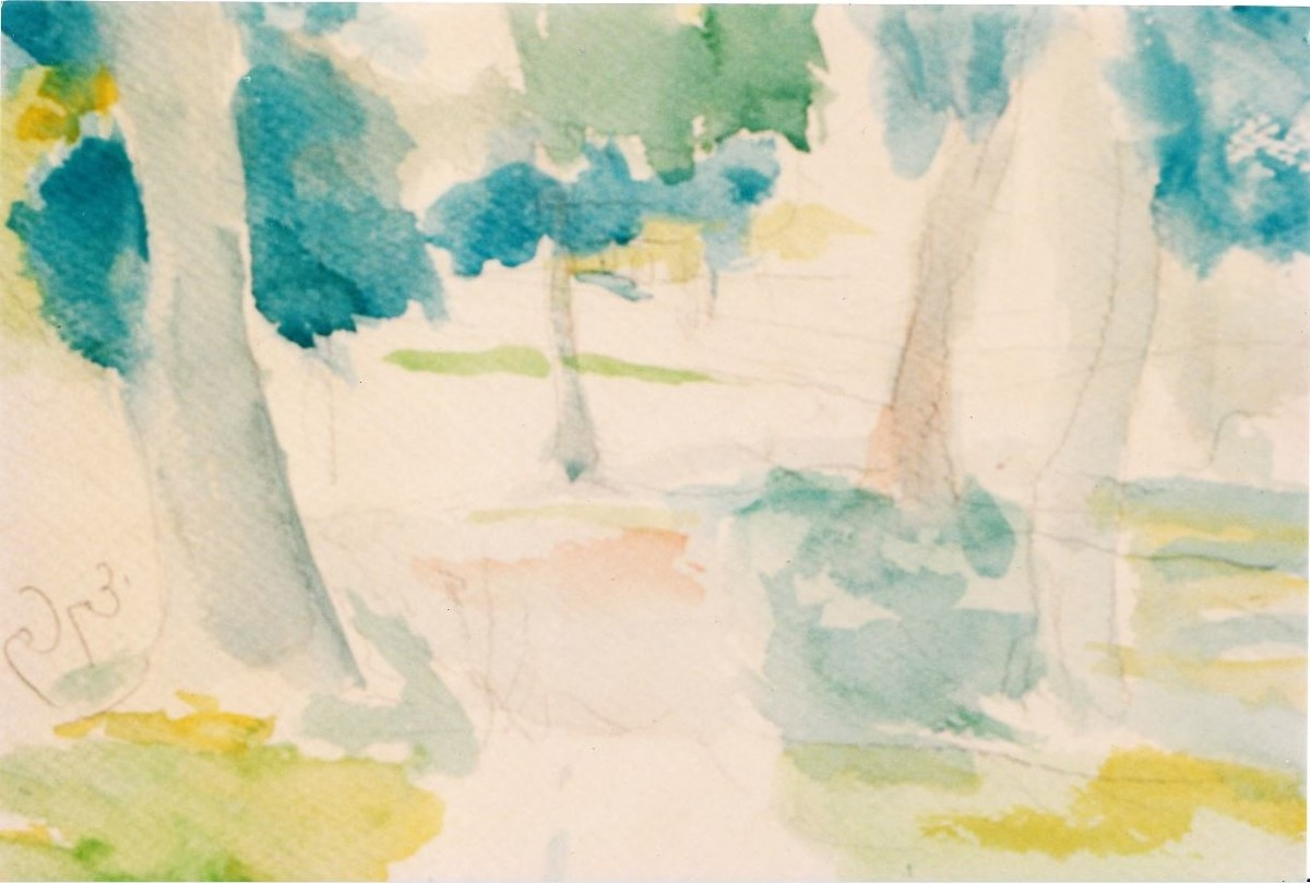 """""""Trees in the park"""" (large view)"""