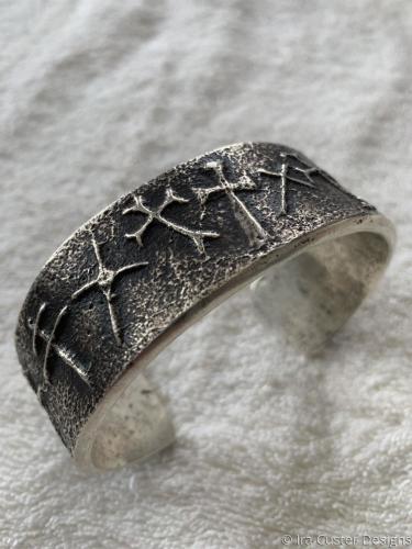 Large Tufacast Cross Bracelet by Ira Custer Designs