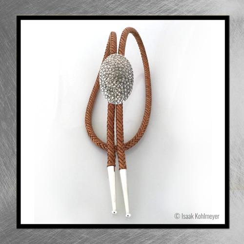 Leather Silver Bolo Tie