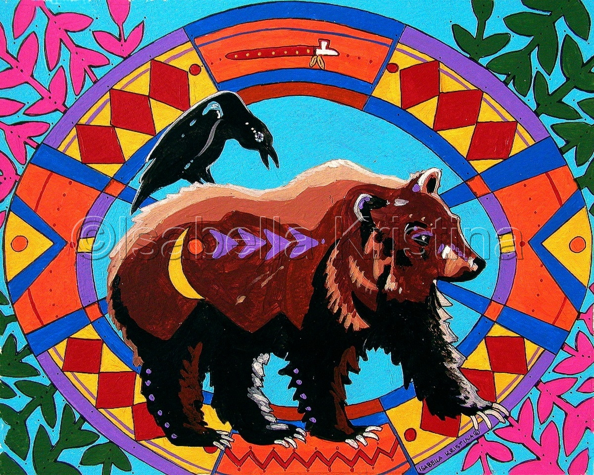 Medicine Bear Mondala (large view)