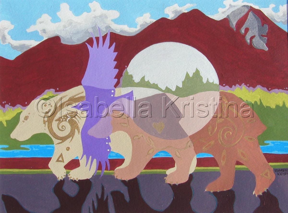 Spirit Bears Of Taos Mountain (large view)
