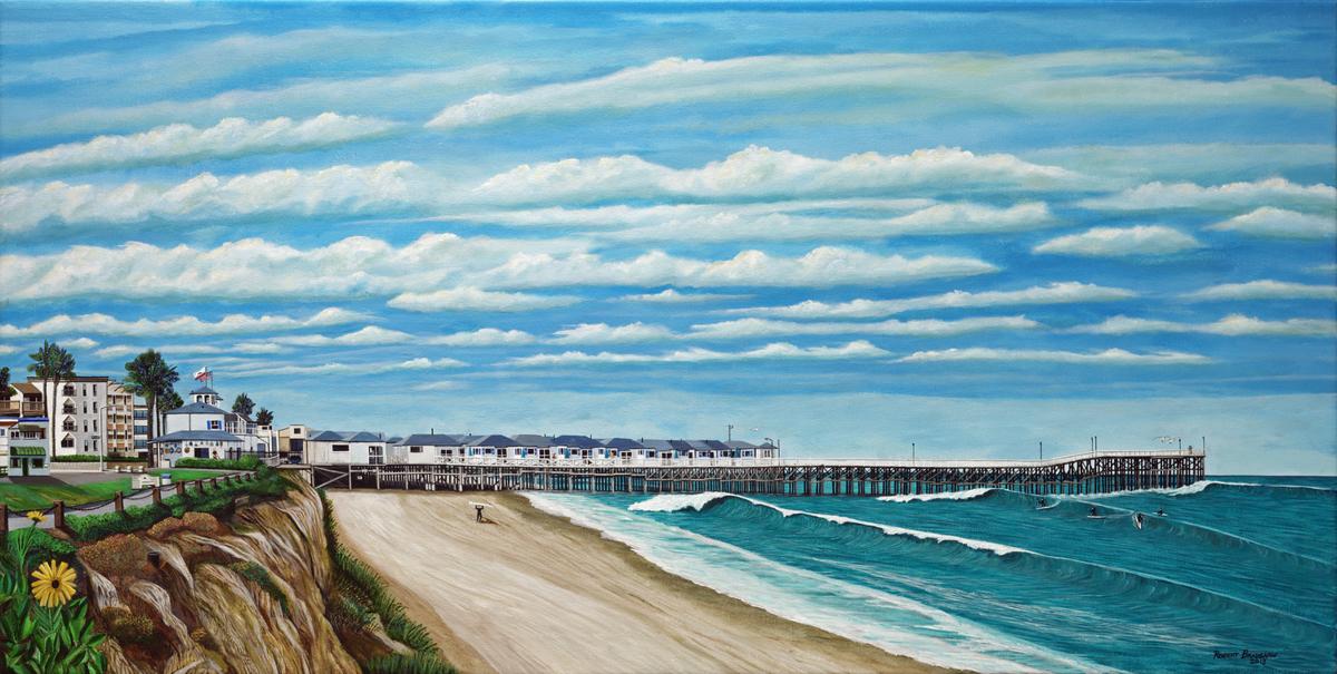 Landscape Acrylic Paintings Crystal Pier Pacific Beach San Go