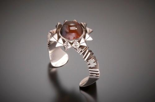Sterling Silver Montana Agate Bracelet