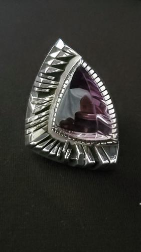 Amethyst Ring. Sterling silver Ring