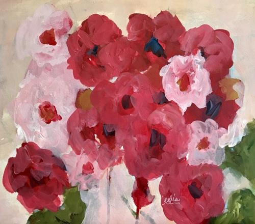 Geraniums  by Irelia Rios Fine Art