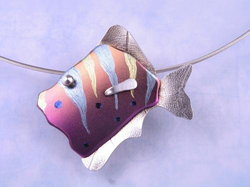 pink clown fish pendant