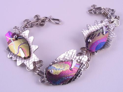 spiral fish bracelet